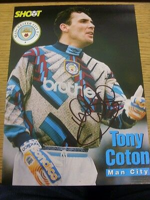 90-2000's Autographed Magazine Picture A4: Manchester City - Coton, Tony. We try