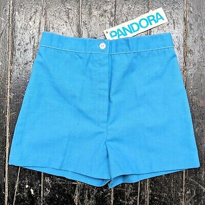 Vintage 1970s PANDORA Blue High Waisted Short Shorts w/ Tags (XS/S)