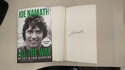 Joe Namath All the Way Football Fame and Redemption Signed Book NY Jets 1/1 HC