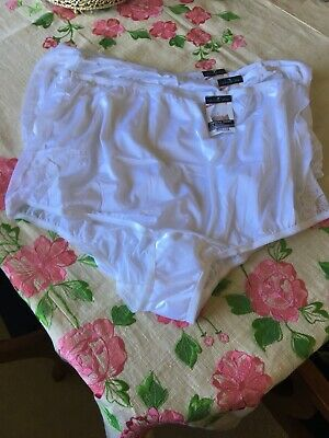 f5f6b0b3cf9 3 VANITY FAIR Brief PERFECTLY YOURS LACE NOUVEAU Panty White sz 11/4XL