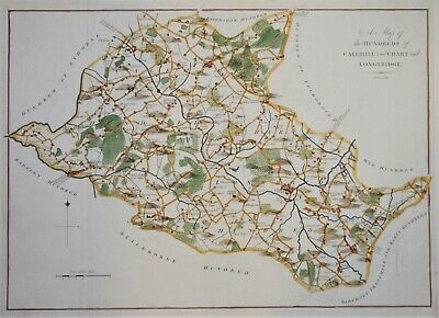 """Kent - Calehill, Chart And Longbridge For Hasted's """"History Of Kent"""". 1778."""