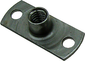 2-Pack, 1/4-20 T Nut, Anchor Nut, Fixed Rivet Nut, W/ Mounting Rivets
