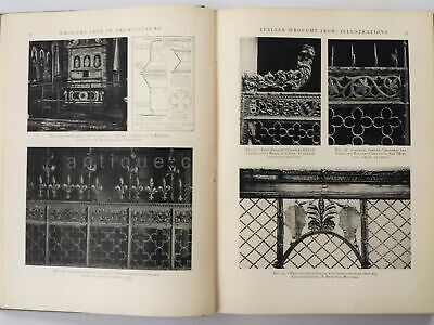 1929 antique WROUGHT IRON ARCHITECTURE owned G. MORRIS WHITESIDE wilmington de