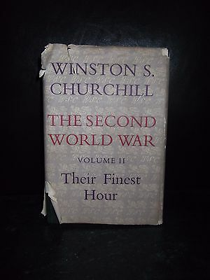 Winston Churchill The Second World War Vol II Their Finest Hour 1st Ed