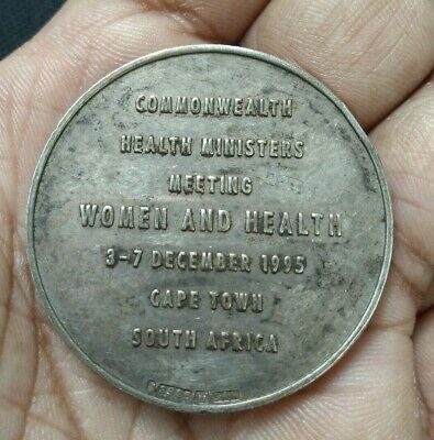 1995 South Africa Cape Town Commonwealth Women & Health Meeting Silver Medal