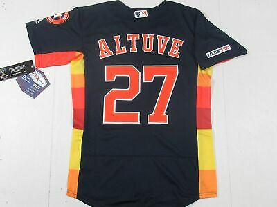 5b096ef24 New Jose Altuve  27 150th Anniversary Patch Houston Astros Flex Base Jersey  Blue