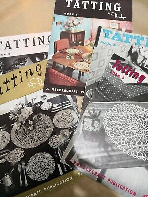FIVE VINTAGE TATTING MANUALS by PENELOPE