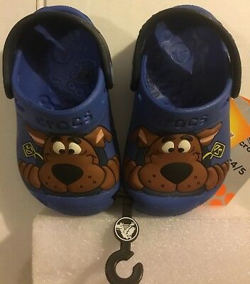 Crocs Classic Kids Roomy Fit Clogs Shoes Sandals in Size C4/5SCOOBY DOO SEABLUE