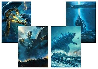 GODZILLA: King of the Monsters, Ghidorah -  A5 A4 A3 Textless Movie DVD posters