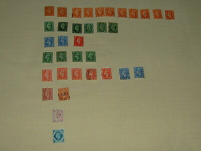 Collection of 35 Used George VI Stamps