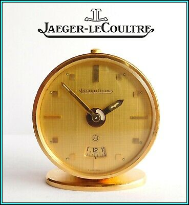Vintage JAEGER LeCOULTRE Travel Alarm Clock 8 days Day/Night - SWISS - WORKING