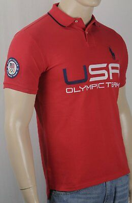 Polo Ralph Lauren Red Custom Fit Big Pony USA 2014 Olympic Shirt NWT
