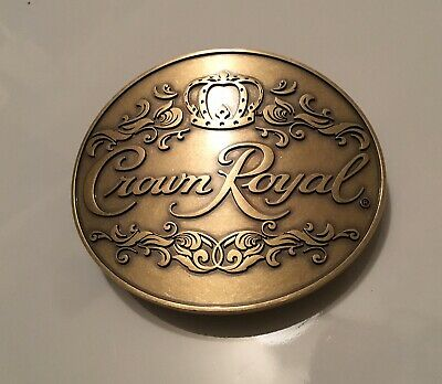 Vintage Crown Royal Brass Belt Buckle