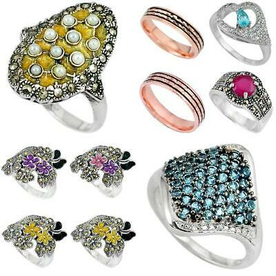 Gemexi 925 sterling silver wholesale lot of ring handmade jewelry 1884C