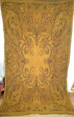 LRG 8ft VINTAGE DOUBLE WOVEN VELVET THROW,TABLE COVER W/GORGEOUS PAISLEY DESIGN