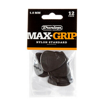 Dunlop Max-Grip 1.0mm Standard Nylon Plectrum (Pack of 12) (NEW)