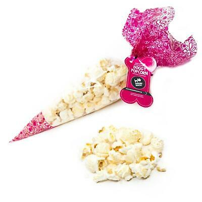 New Pet Dog Cute Funny Gift Present Food Snack Treat Cheesey Popcorn Bag Cone