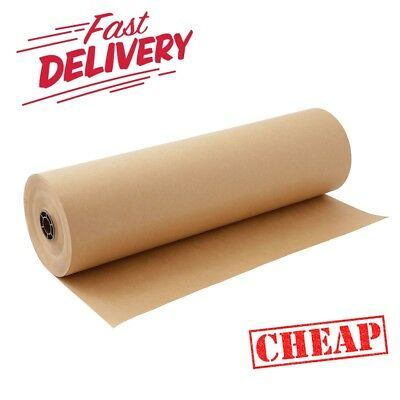 10m x 500mm STRONG BROWN KRAFT WRAPPING PAPER roll heavy duty 88gsm