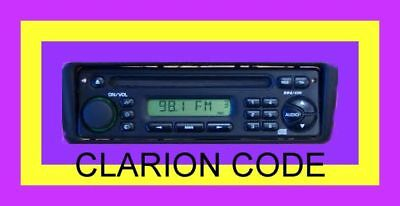 CLARION  RADIO CODE (Same Day Service 24/7) READ DESCRIPTION BEFORE BUYING