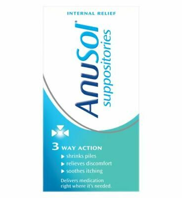 Anusol Suppositories 24 Pack - Haemorrhoids Piles Treatment - Discreet Shipping