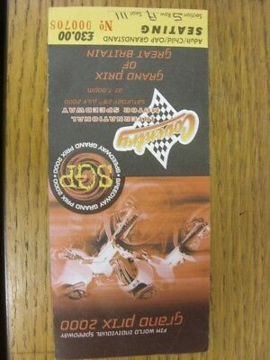 29/07/2000 Ticket: Speedway, FIM British Grand Prix [At Coventry]. Thanks for vi