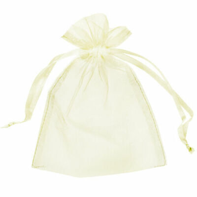 10 Small 7Cm X 9Cm Luxury Ivory Organza Gift Bags Wedding Favour Sweet Bags Uk