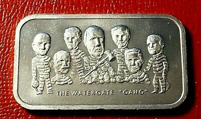 Watergate Gang Bar 1 Troy oz.999 Silver by Colonial Mint   Low Mintage Bar