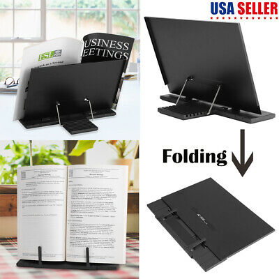 Folding Adjustable Desktop Sheet Music Stand Holder Table Top Cook Book Stand US
