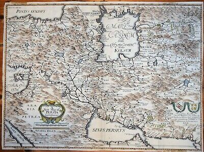 Reprint 10x8 inch Map of Persia Iran Iraq Afghanistan 1724
