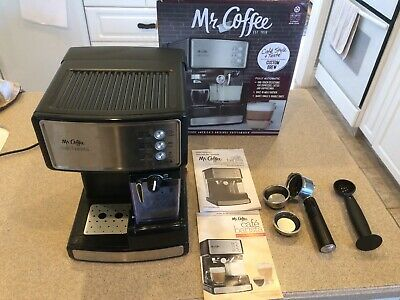 Mr. Coffee Cafe Barista Espresso & Cappuccino Maker, Silver, Tested