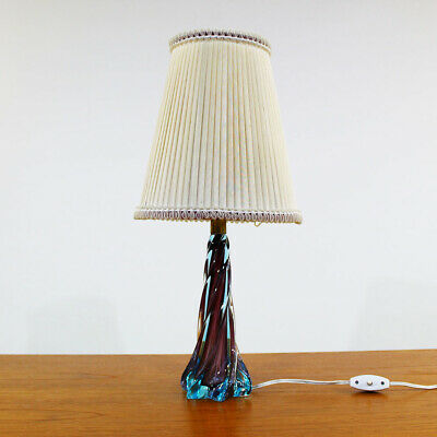 Murano Glas Tischlampe 50Er Jahre Mid Century Sommerso Glass Table Lamp 1950S