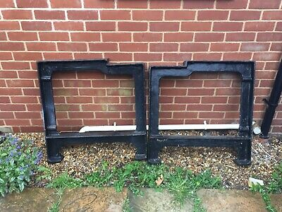Pair Of Cast Iron Workbench Legs
