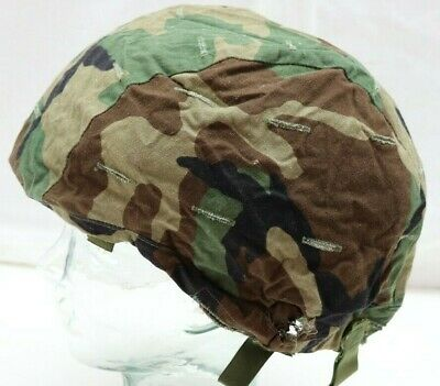 US Woodland Camo Ground Troops Helmet Cover size Medium/Large each E8877