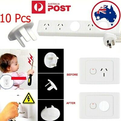 10PCs Safety Child Baby Proof Electric Outlet Socket Plastic Cover Protectors