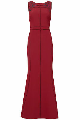 780ca5c9b01c Marchesa Notte Red Crochet Embroidered Beaded Women's 6 Gown Dress $995-  #941