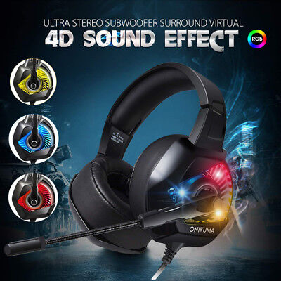 ONIKUMA K6 Gaming Headset Stereo Noise-Canceling for PS4 Xbox Nintendo Switch
