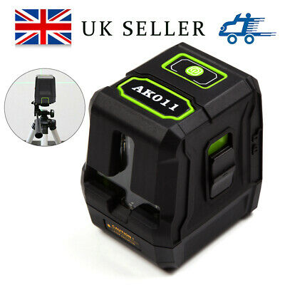 Self-Levelling Laser Level 2 Line Green Vertical Horizontal Measure 360° Rotary