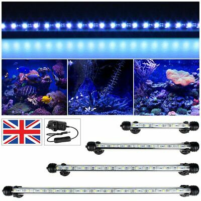 18/28/38/48/ 58/78/108cm Aquarium Fish Tank Submersible LED Light Bar UK Plug