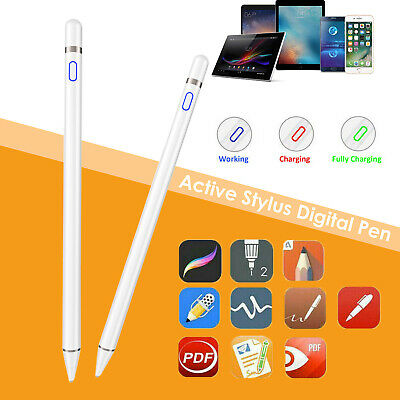 Digital Active Stylus Pen Pencil For Apple iPad Touchscreen Ultra Fine Tip 1.5mm