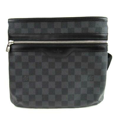 bcad81c30274 Auth LOUIS VUITTON Thomas Shoulder Crossbody Bag N58028 Damier Graphite Used