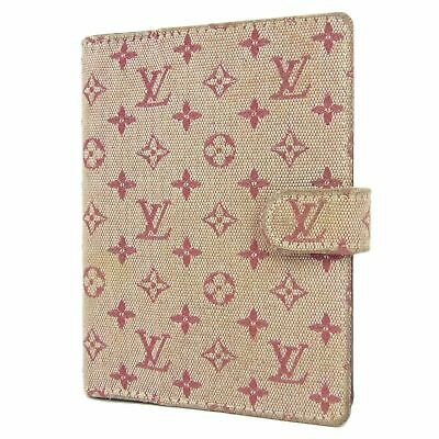 Sale! Auth LOUIS VUITTON R20912 Monogram Mini Agenda PM Daily Planner Cover 4845