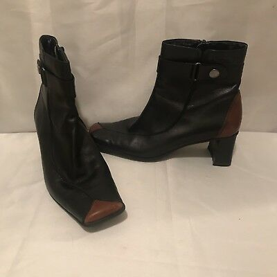 TAMARIS MARLY WOMENS Brown Leather Ankle Boots $94.05