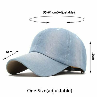 premium selection 44da2 9cf63 Blank Baseball Caps Hats Men Fashion Washed Jeans Women Snapback Men Casual  Cap