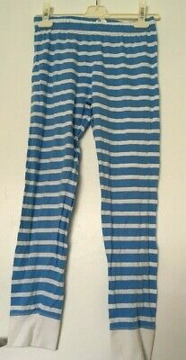 Girls Blue & White F&F Pyjama Pj Bottoms 10-11 Years Vgc (Postage Deal)
