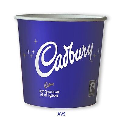 Cadbury Chocolate drink 76mm Kenco Maxpax vending in cup 7oz paper Incup Drinks