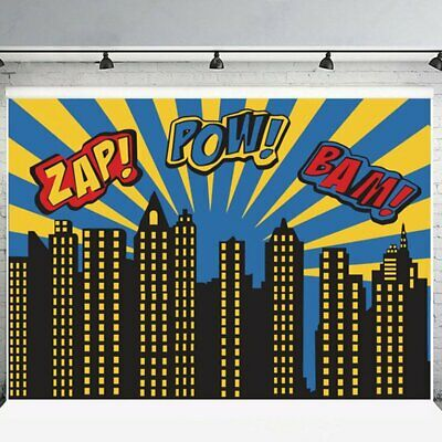 Backgrounds for Photo Studio Super Hero City Party Photography Backgro ME