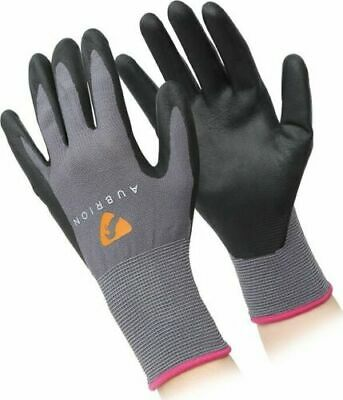 Shires Aubrion All Purpose Yard Gloves Grey Or Pink S M L Xl (1070)