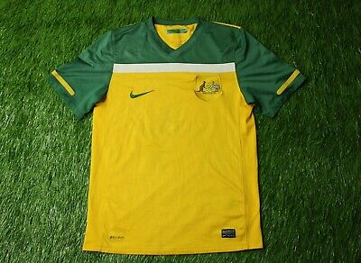 new product 49d5a b07a7 AUSTRALIA FOOTBALL JERSEY Shirt 2010 2011 Home Nike Soccer ...