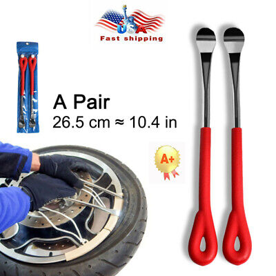 A PAIR Motorcycle Spoon Tyre Lever Iron Tool Repaire Tire Hand Non-slip US SHIP