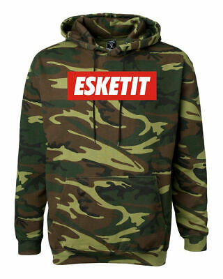 LIl Pump Unhappy Green Camo Hoodie Pullover Harverd Dropout Essketit Like me